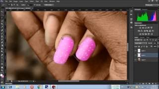 How to Draw your nail like as Nail polish by photoshop