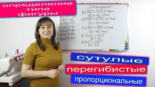 Определение типа фигуры для построения базовой основы выкройки по формулам