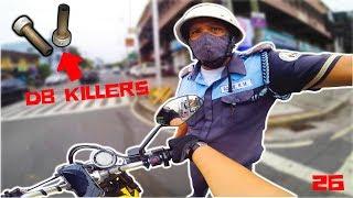 DB KILLER REMOVED | BIKERS VS COPS | DUCATI SCRAMBLER AKRAPOVIC
