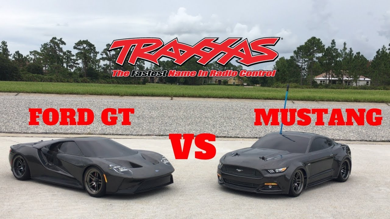 Traxxas new ford gt tsm rc car vs new ford mustang gt rc car traxxas race