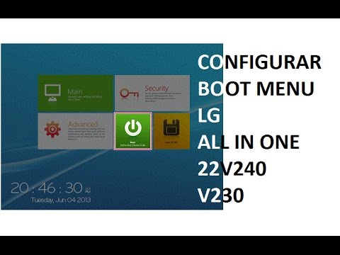 Alterar Boot Do Lg All In One Pc Aio 22v240 Youtube
