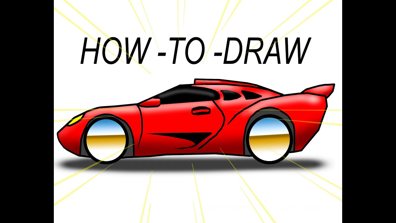 How To Draw Cartoon Exotic Car The Ez Way Youtube