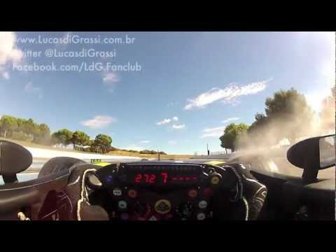 HD First Time Ever REAL EyeLevel Camera FORMULA 1  Lucas di Grassi