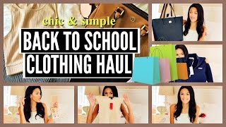 HUGE Back to School Clothing Haul 2016