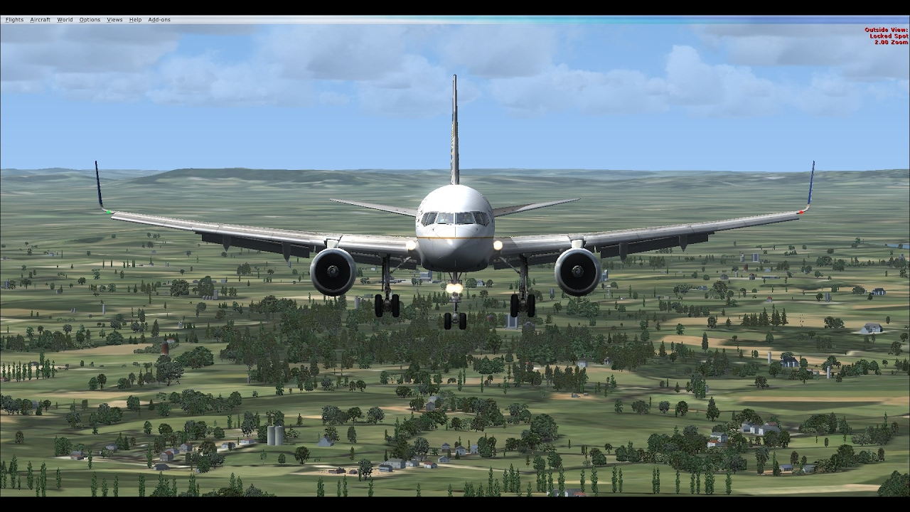 FSX United Boeing 757-300 Landing