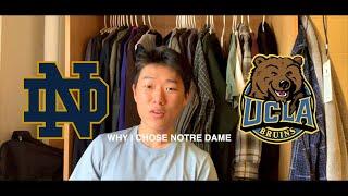 WHY I CHOSE NOTRE DAME OVER UCLA
