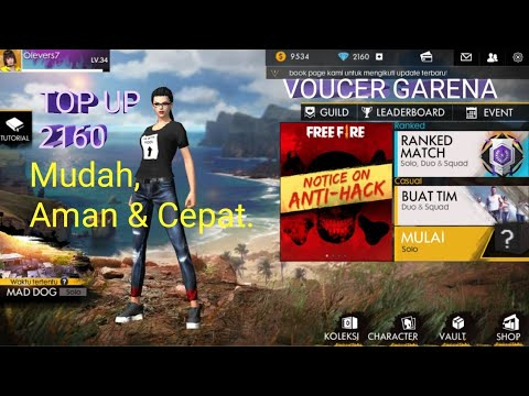 Top Up Diamond Free Fire Dengan Voucher Garena Kiosgamer Aman Dan