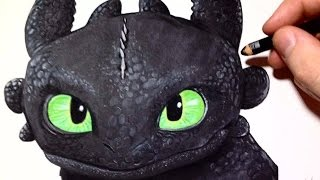 Step by step : Toothless Drawing  (How To Train Your Dragon)