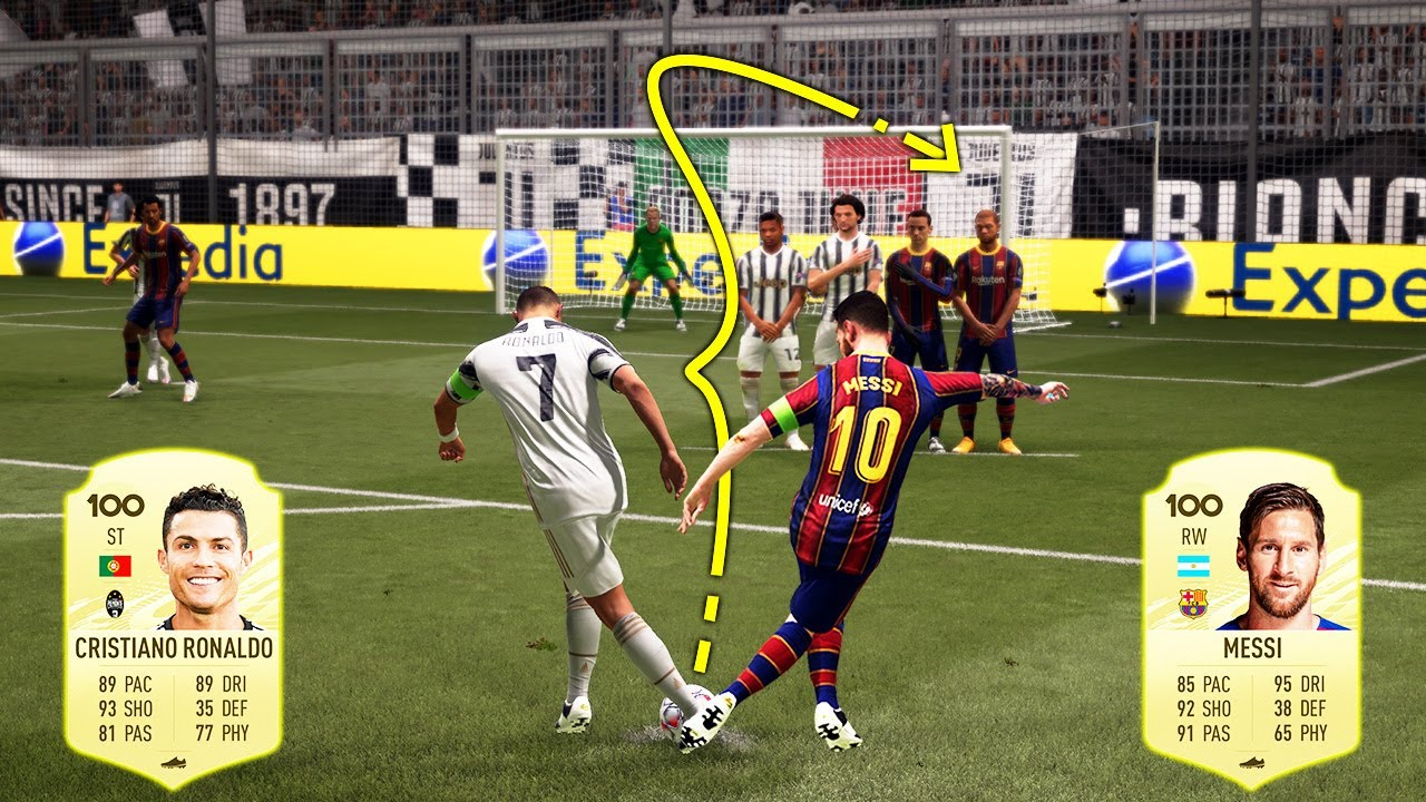 Download FIFA 21 - Ronaldo vs Messi   Free kick Challenge!!