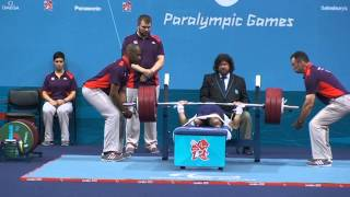 185kg at London 2012 Paralympic Games