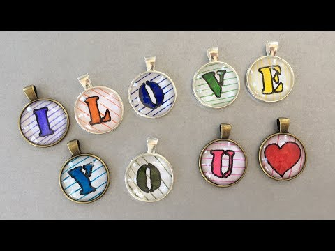 DIY Accessories ネックレスの作り方 – DIY Pendants / How to make DIY Jewelry by My little birds