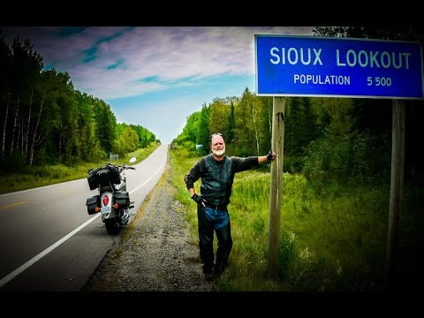 a solo motorcycle trip to Sioux Lookout and around Lake Superior