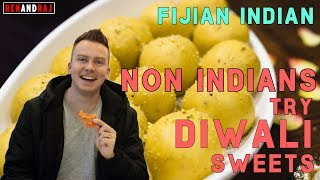 Fijian Indian - Non Indians try Diwali Sweets