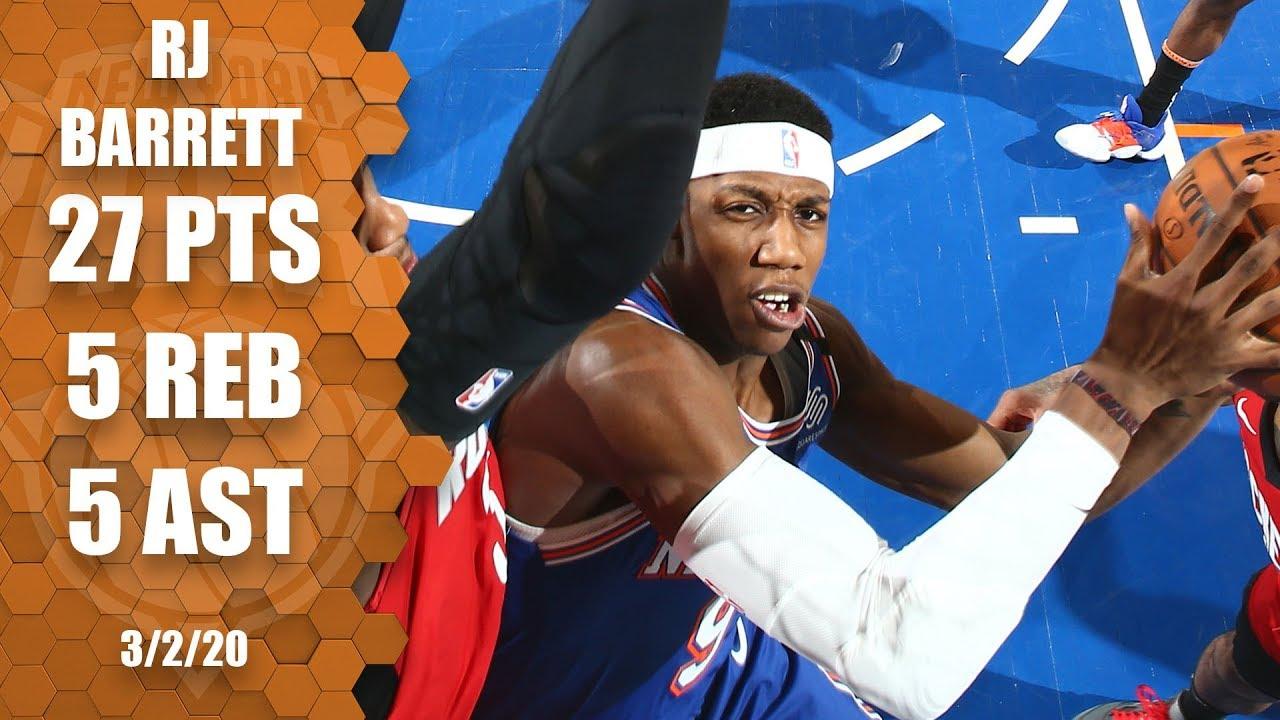 Knicks: Why not just run the offense through RJ Barrett?