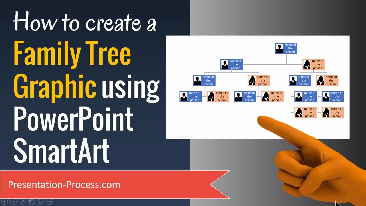 how to create a family tree graphic using powerpoint smartart youtube