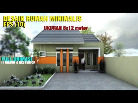 Desain Rumah 8x12 Meter | 2 Kamar Tidur | Full Animasi 3D | EPS. 010 -  YouTube