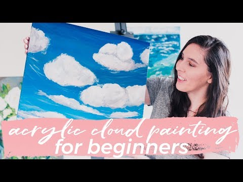Acrylic Cloud Painting Tutorial for Beginners