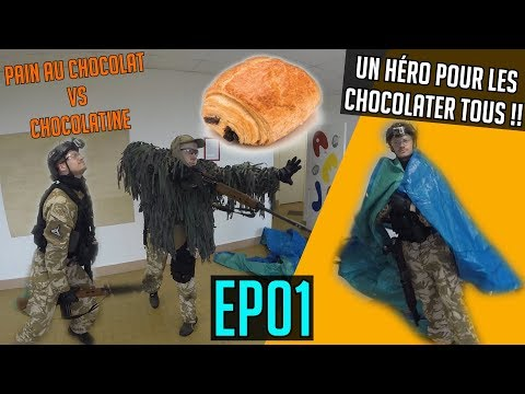 PAIN AU CHOCOLAT VS CHOCOLATINE EP01 | OP NORD / SUD - Airsoft United | Wild Trigger - Town