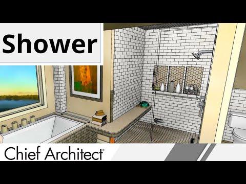 7 PARABOLA BATH Shower Niche, Shower Wrap-Around Bench