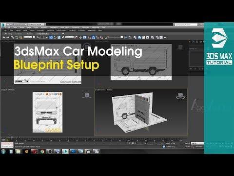 3ds max car modeling tutorial part 1 blueprint setup malvernweather Images