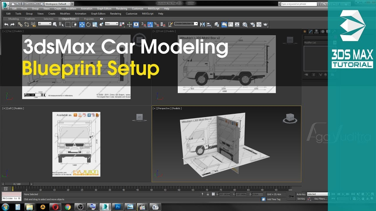 3ds max car modeling tutorial part 1 blueprint setup youtube 3ds max car modeling tutorial part 1 blueprint setup malvernweather Choice Image