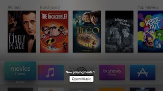 Apple TV: Siri integration with Apple Music on tvOS 9.1