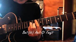 Jazz Guitar - White Christmas - Chord Melody - Chords