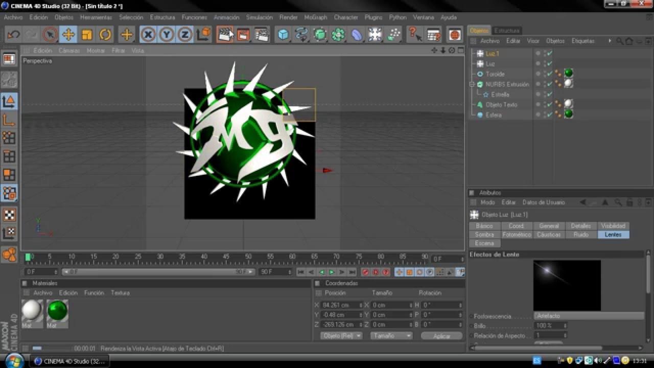 Como crear un logo profesional 1er tipo en cinema 4d for Programa para disenar cocinas facil