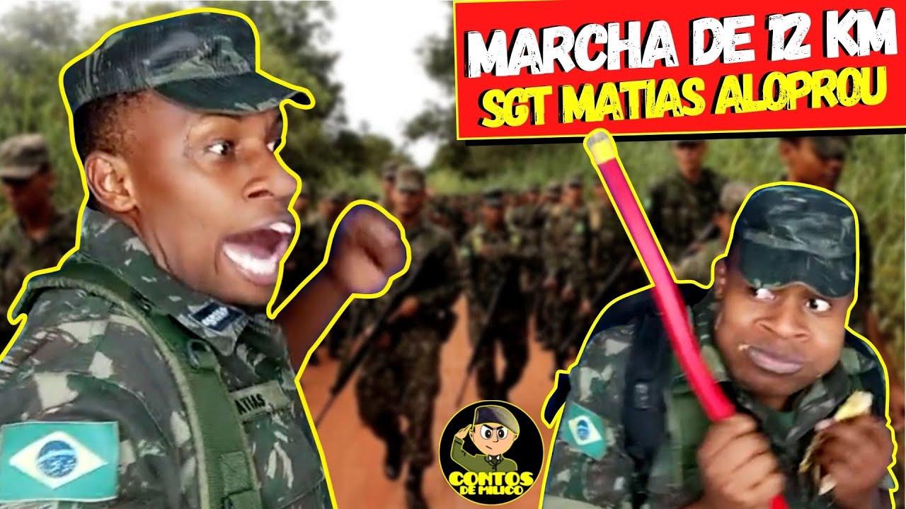 🔰 Marcha De 12 KM, SGT Matias Alopra Com Soldado Enzo (Contos De Milico)