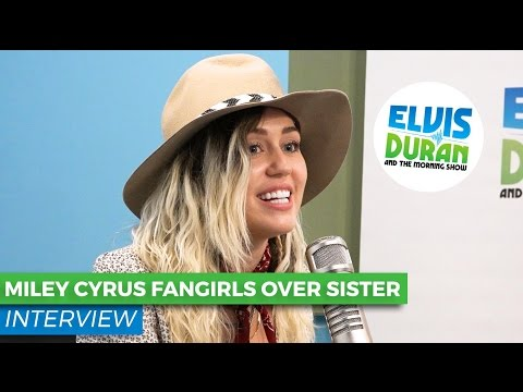 Miley Cyrus Admits Little Sister Noah Is Way Cooler | Elvis Duran Show