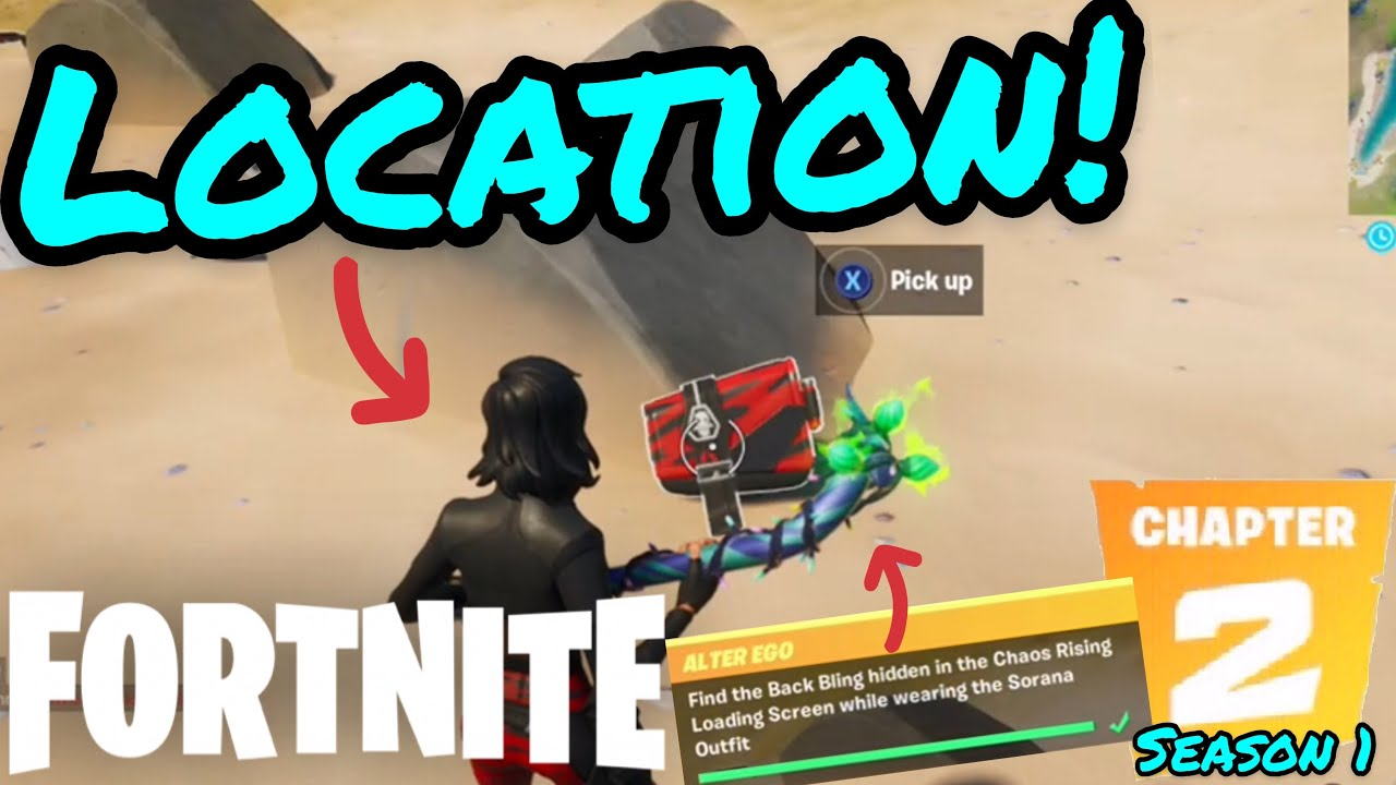 Find the Back Bling hidden in the Chaos Rising Loading ...