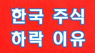 한국 주식 하락 이유