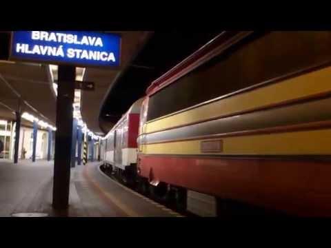 Vlaky Bratislava hlavná stanica v tme