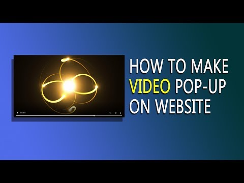 How To Add Video Popup In Website Using HTML CSS Bootstrap | Add Video On HTML Website Pop-up