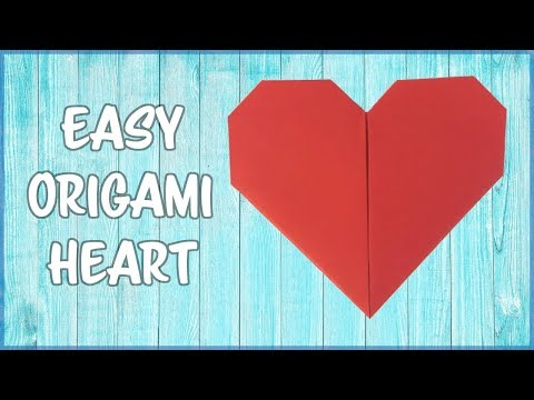 How to make an Origami Heart - Fold by fold, paper instructions! (Easy!)