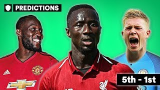 CAN LIVERPOOL WIN THE TITLE? | 2018/19 SEASON PREDICTIONS | 5TH-1ST