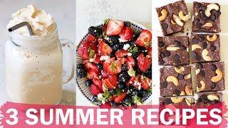 3 MUST-MAKE SUMMER RECIPES | vegetarian + gluten free | collab with Becca Bristow