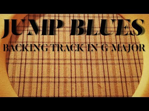 Jump Blues Backing Track - Swinging Blues In G major