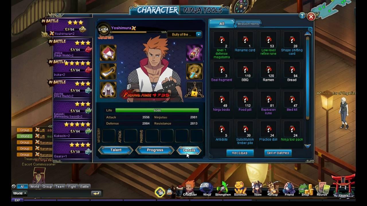 Naruto Online Aufstellung Simulator