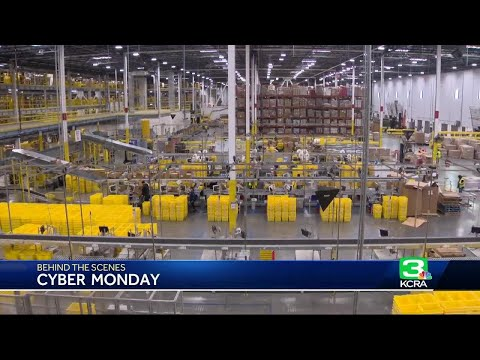 Inside A Tracy Amazon Fulfillment Center On Cyber Monday