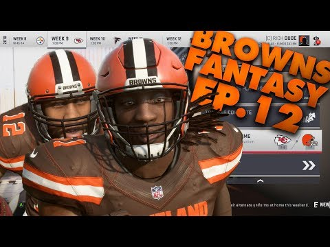 Bo Scarborough Benched? Fantasy Draft Browns Franchise! Madden 19 Browns Franchise Ep.12