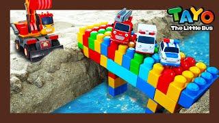 Tayo Kendaraan berat Mainan menunjukkan l #21 Jembatan pelangi jatuh l Tayo Bus Kecil