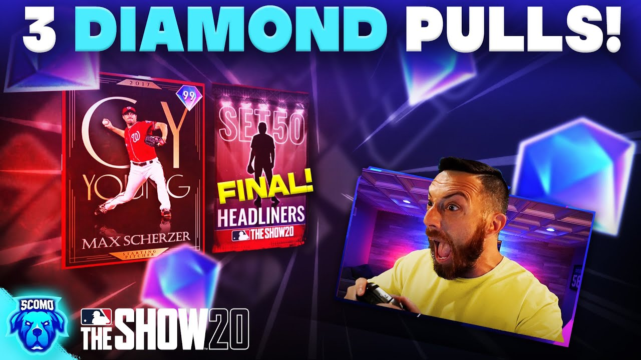 SET 50 THE LAST HEADLINER! 3 DIAMOND PULLS! [MLB The Show 20]