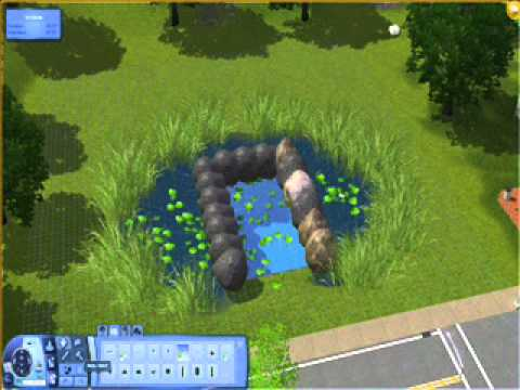sims 3 caw how to make a waterfall