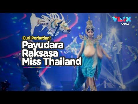 Gaun Payudara Raksasa Bikin Heboh Miss Universe