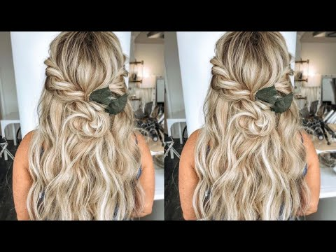 #bridalhair-|-easy-half-up-half-down-braided-#bohemianhair-wedding-hairstyle-|-#2021-|-hairbykaytlyn