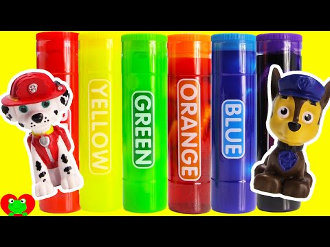 Paw Patrol LEARN Colors with Slime Surprise Toys and More