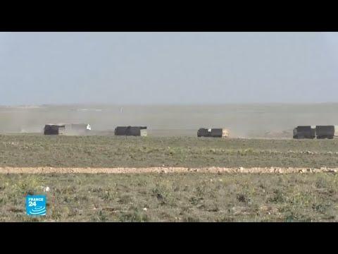 شاحنات تقل رجالا ونساء وأطفالا تغادر آخر جيب لتنظيم -الدولة الإسلامية- في سوريا