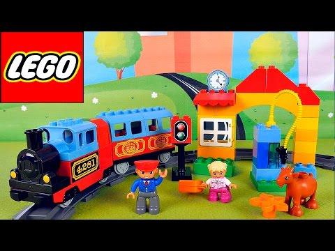 VIDEO FOR KIDS - My First Train Set Lego Duplo . Паровозик ЛЕГО и моя первая железная дорога - Простые вкусные домашние видео рецепты блюд