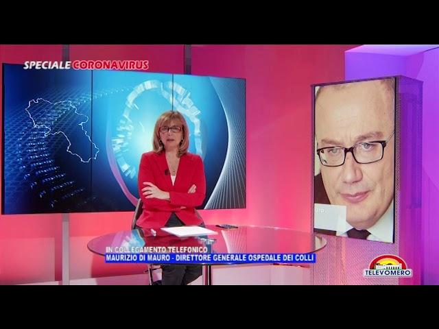 SPECIALE CORONAVIRUS  INTERVISTA A MAURIZIO DI MAURO DIRETTORE GENERALE OSPEDALE DEI COLLI